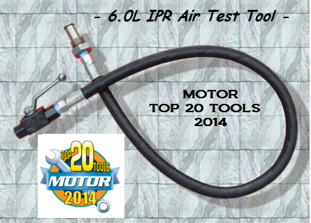 6.0L High Pressure Oil System IPR Air Test Tool 6.0L IPR Air Test Tool, 6.0 IPR Air test tool, AccurateDiesel 6.0L IPR air test tool, 6.0L IPR air test fitting, 6.0 IPR test fitting, Accuratediesel.com 6.0 IPR air test fitting, 6.0L Powerstroke IPR air test fitting, 6.0L air test fitting, 6.0L air test tool Diesel Tech Ron, 6.0L IPR Air test tool Motor Top 20 Tools