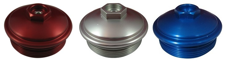 L powerstroke billet aluminum fuel filter cap with