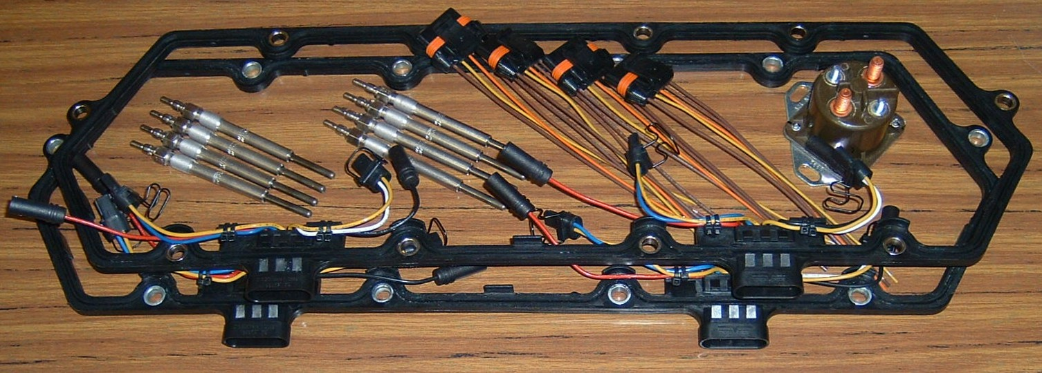 7.3L Ford Powerstroke sel Glow Plug Kits | Accurate sel Oily Powerstroke Injector Wiring Harness on