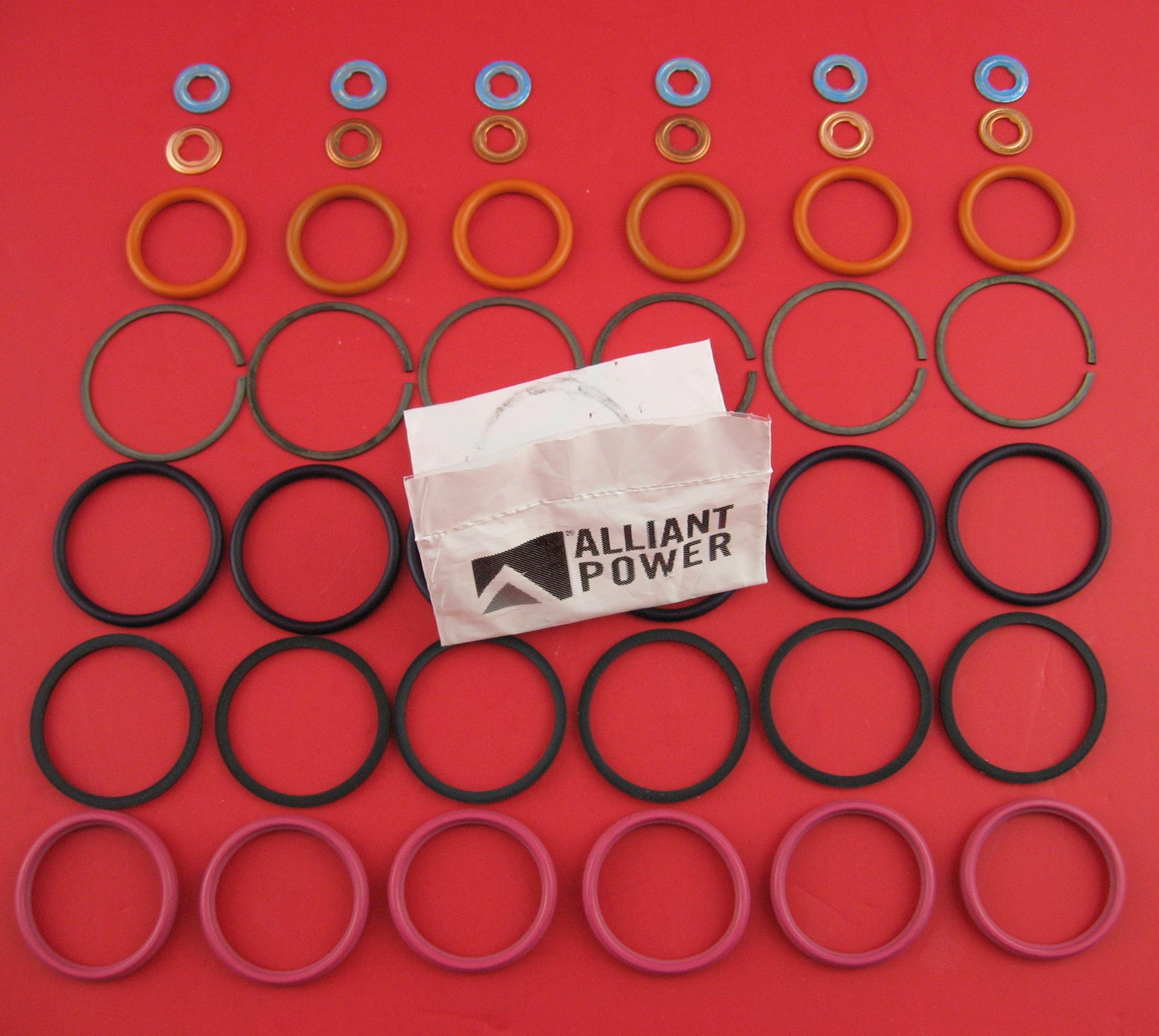 Diesel Fuel Injector Seal Kit for a Ford Powerstroke 6.0L International//Navistar