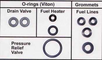 - Powerstroke Fuel Filter Drain Valve Seal Kit Late #AAP0007