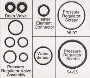 1994-1997 7.3 Powerstroke Fuel Filter Drain Valve Seals
